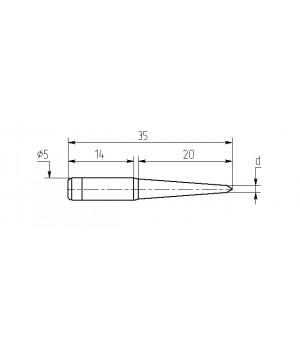 Насадка паяльная M20-DA-01, 1,5мм двухсторонний срез, износостойкая