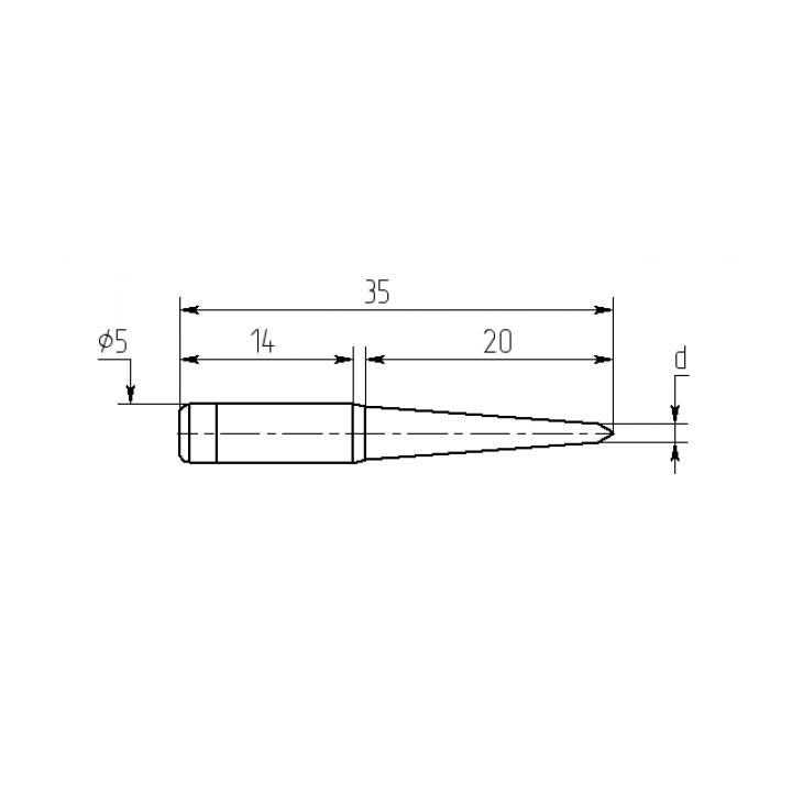 Насадка паяльная M20-DA-03, 3,5мм двухсторонний срез, износостойкая
