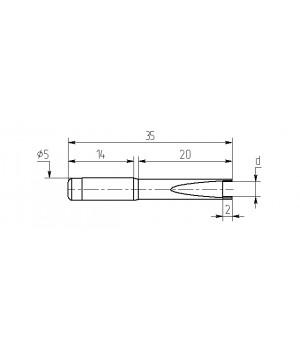 Насадка паяльная M20-DF-01 для ЧИП-комп., износостойкая