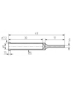 Насадка паяльная MD17-Z-10, 1,0мм трубчатые, медная затачиваемая