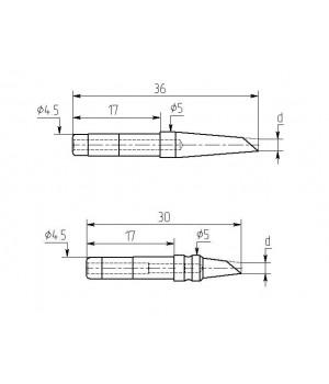 Насадка паяльная МИ-DB-01, 1,5мм двухсторонний срез, износостойкая