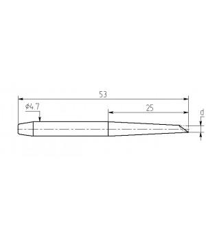 Насадка паяльная MP25-DC-02, 2,5мм миниволна, износостойкая