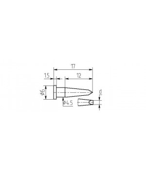 Насадка паяльная MW12-DА-01, 1.5мм, двухсторонний срез, износостойкая