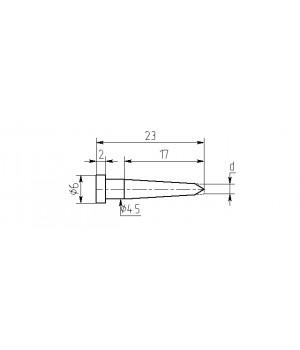 Насадка паяльная MW17-DА-01, 1.5мм, двухсторонний срез, износостойкая