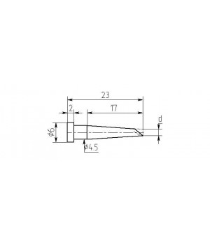 Насадка паяльная MW17-DС-02, 2.5мм, миниволна, износостойкая